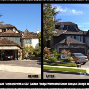 Wood Shake Tear Off and Re-Roof with GAF Golden Pledge Grand Canyon Shingle System